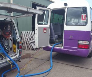 bus and taxi upholstery and carpet cleaning