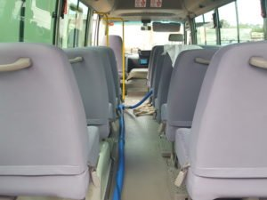 bus and taxi upholstery cleaning