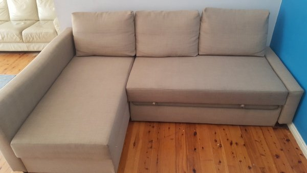 upholstered lounge at shellharbour after cleaning by chemdry